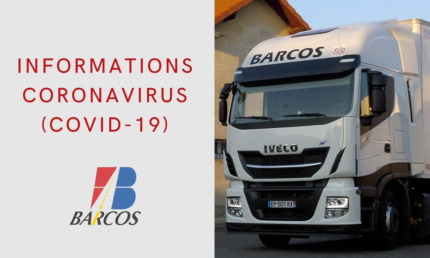 Info Covid-19: maintien du transport routier et de la logistique